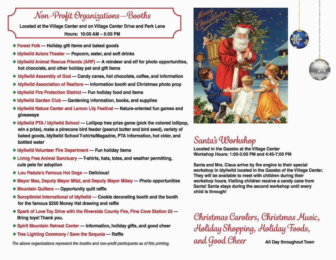 Idyllwild's 56th Annual Christmas Tree Lighting Ceremony