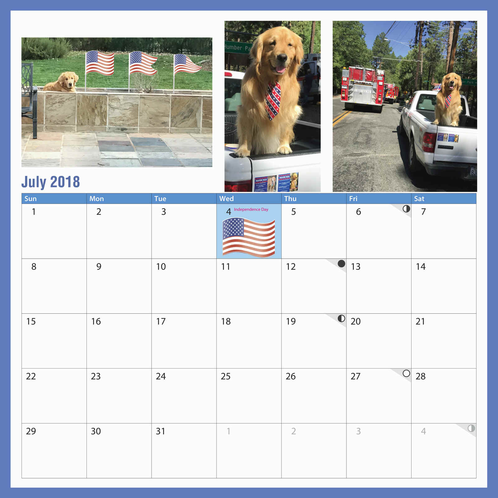 2018 Calendar from the Office of the Mayor of Idyllwild