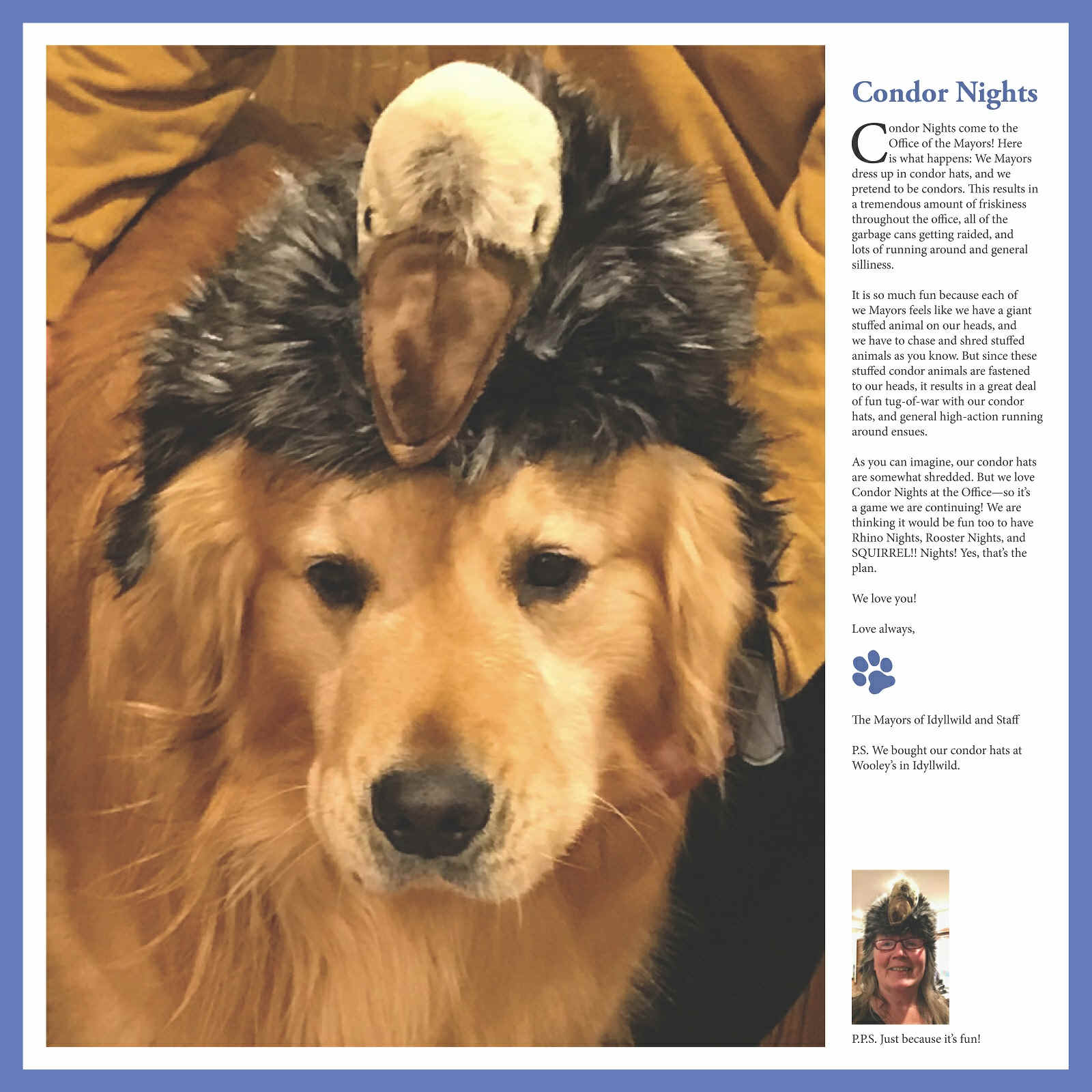 2019 Calendar from the Office of the Mayor of Idyllwild